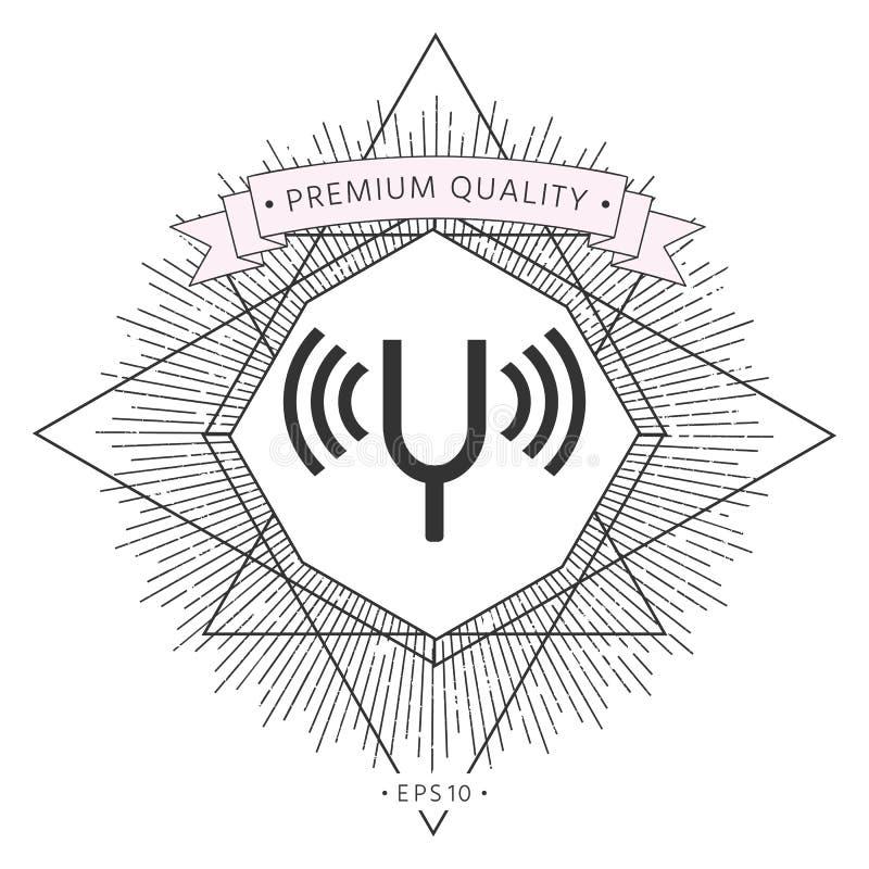 Trimma - gaffelsymbol royaltyfri illustrationer