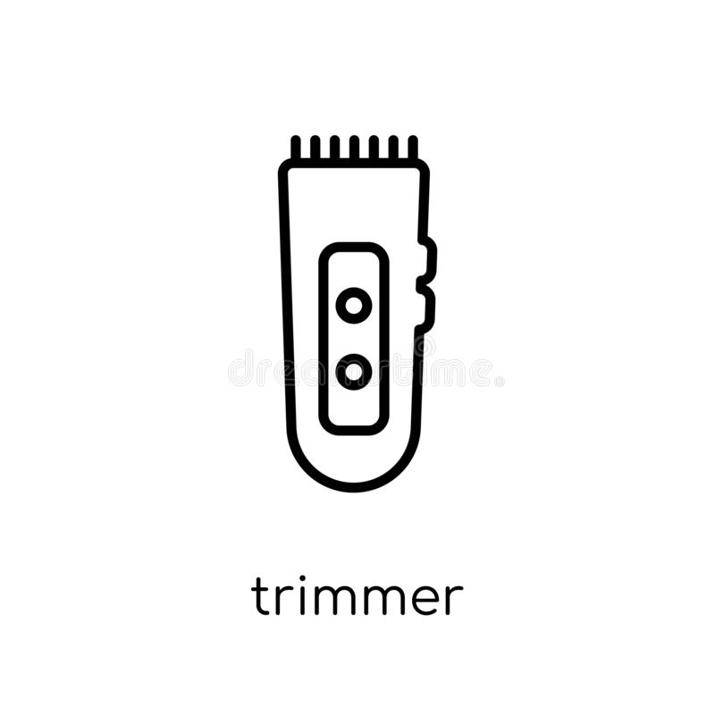 trimmer icon. Trendy modern flat linear vector trimmer icon on w royalty free illustration