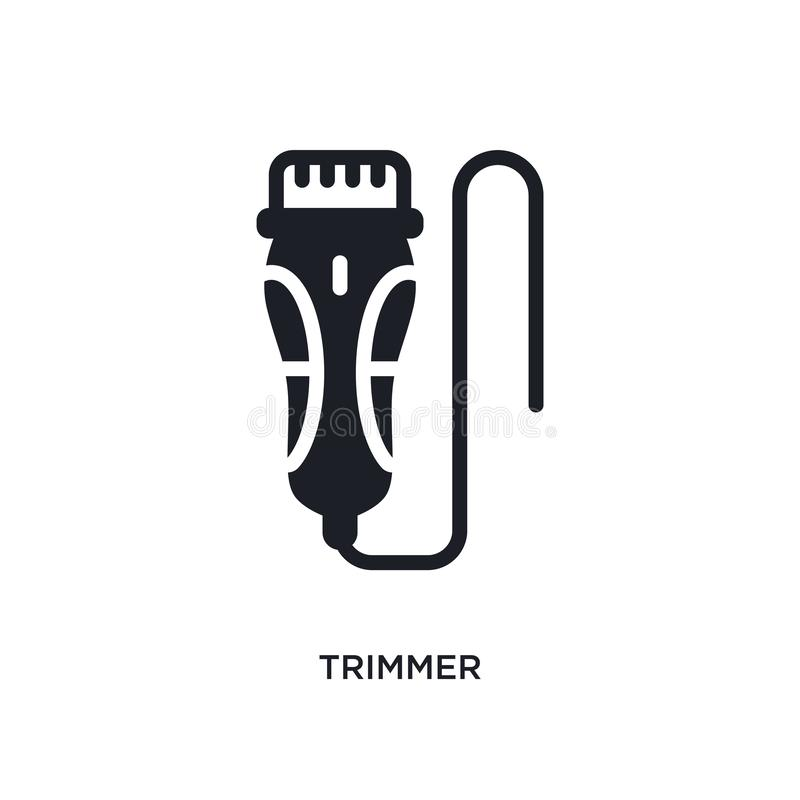 Trimmer isolated icon. simple element illustration from electronic devices concept icons. trimmer editable logo sign symbol design. On white background. can be royalty free illustration