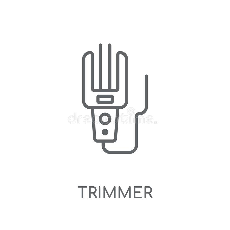 trimmer linear icon. Modern outline trimmer logo concept on whit vector illustration