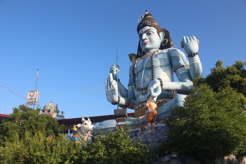 The Trincomalee Koneswaram Kovil Stature in Sri Lanka. This the place where in highest place of Trincomalee Koneswaram kovil premises. very large stature in stock images