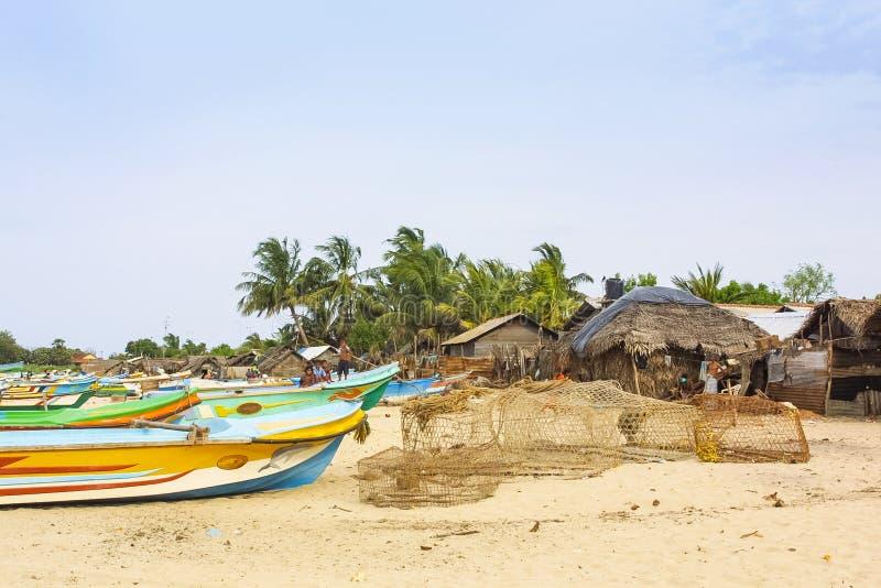 Trincomalee wioska rybacka zdjęcia stock