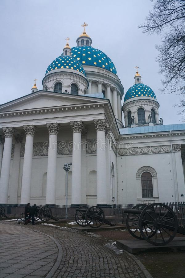 A trindade a catedral de Troitsky, St Petersburg, Rússia fotografia de stock royalty free