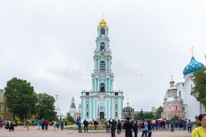 A trindade Lavra de St Sergius em Moscou, Rússia imagens de stock royalty free