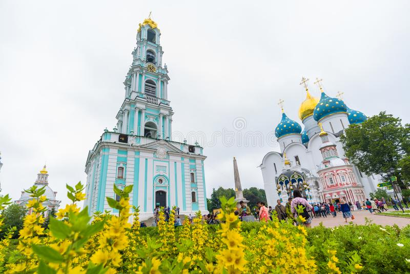 A trindade Lavra de St Sergius em Moscou, Rússia imagem de stock royalty free