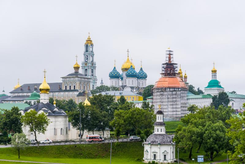 A trindade Lavra de St Sergius em Moscou, Rússia fotografia de stock