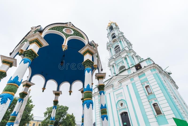 A trindade Lavra de St Sergius em Moscou, Rússia fotografia de stock royalty free