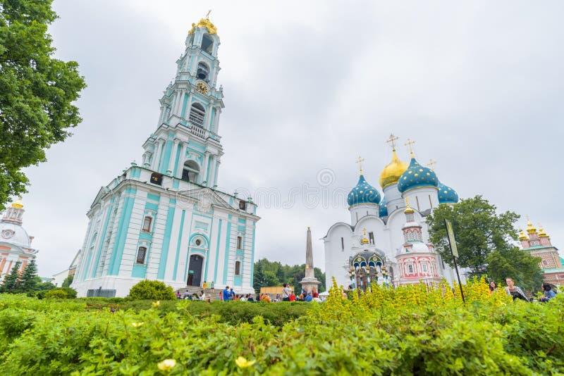 A trindade Lavra de St Sergius em Moscou, Rússia fotos de stock