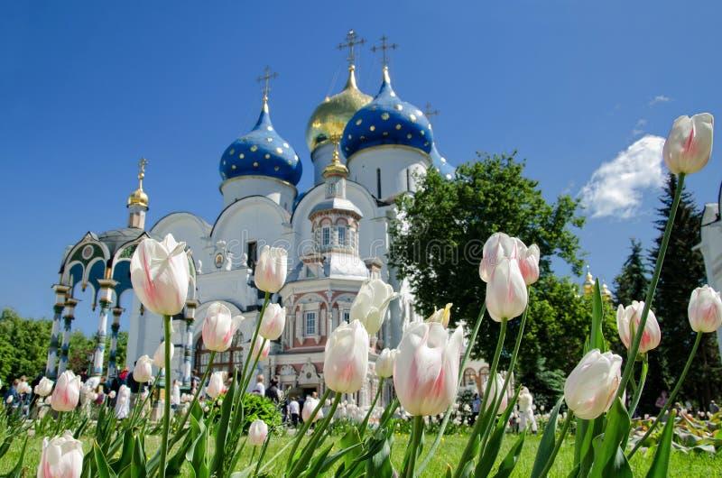 Trindade Lavra de St. Sergius em Sergiyev Posad fotos de stock royalty free