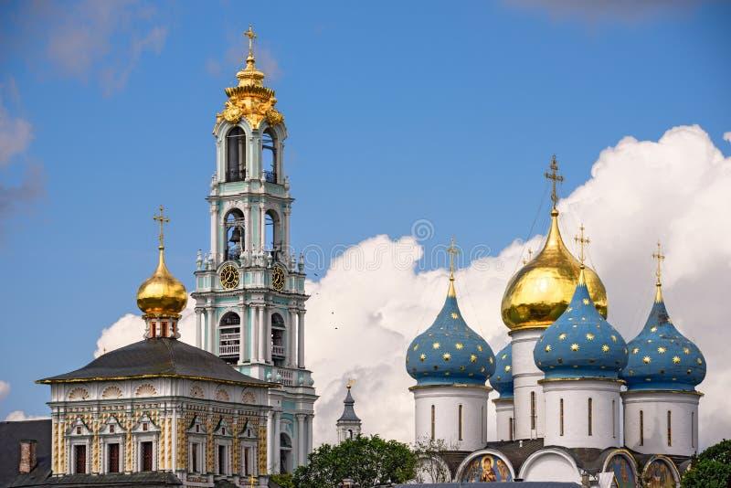 Trindade Lavra de St Sergius Sergiev Posad, região de Moscou Anel dourado, Rússia fotografia de stock
