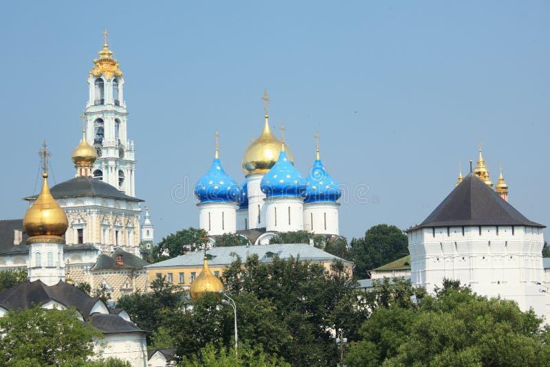 Trindade Lavra de St Sergius, Sergiyev Posad, Rússia fotografia de stock royalty free