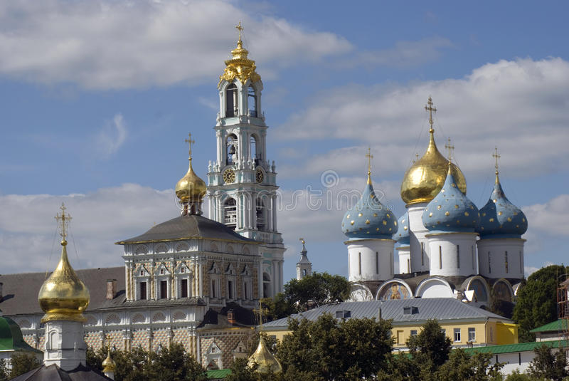 Trindade Sergius Lavra em Rússia imagem de stock royalty free
