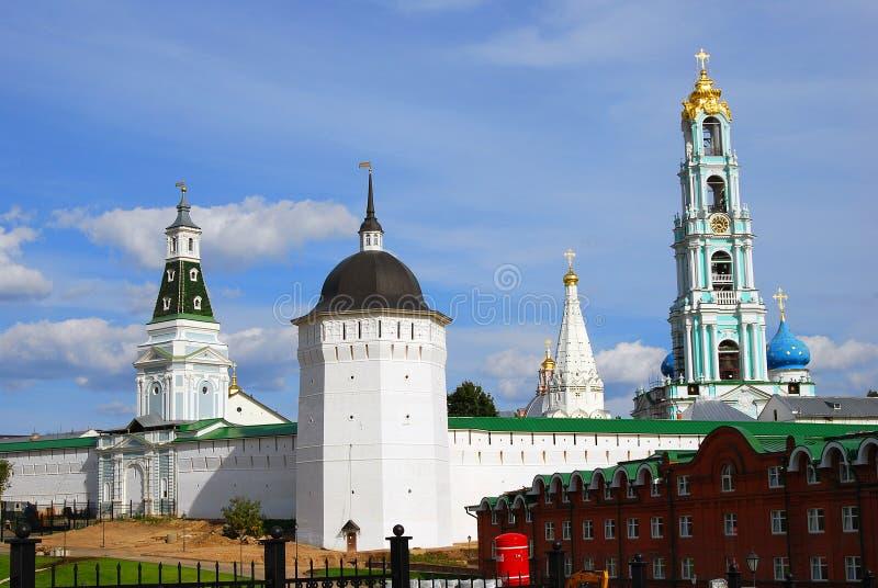Trindade Sergius Lavra, Sergiev Posad, Rússia Mundo Herit do UNESCO imagem de stock royalty free