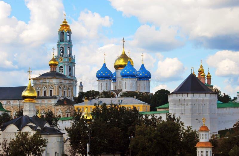 Trindade Sergius Lavra, Sergiev Posad, Rússia Mundo Herit do UNESCO foto de stock