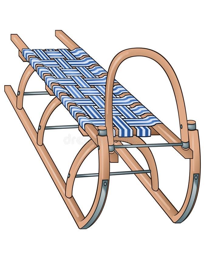 Trineo ilustración del vector