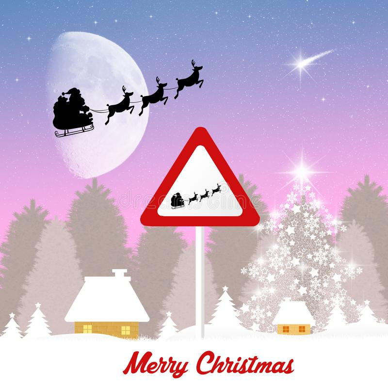 Trineo de la muestra de Santa Claus libre illustration