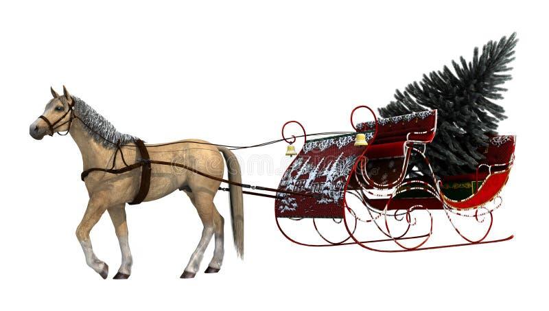 Trineo de la Navidad ilustración del vector