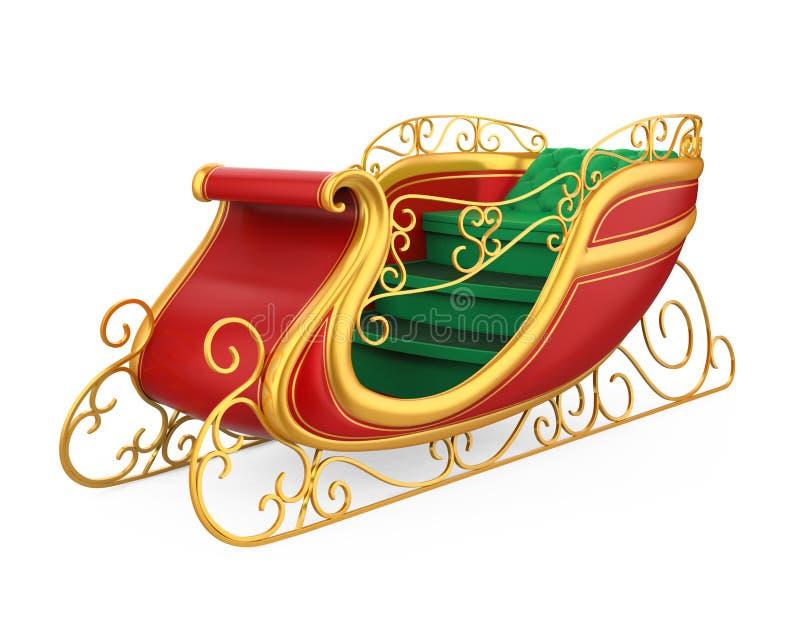 Trineo de la Navidad aislado ilustración del vector