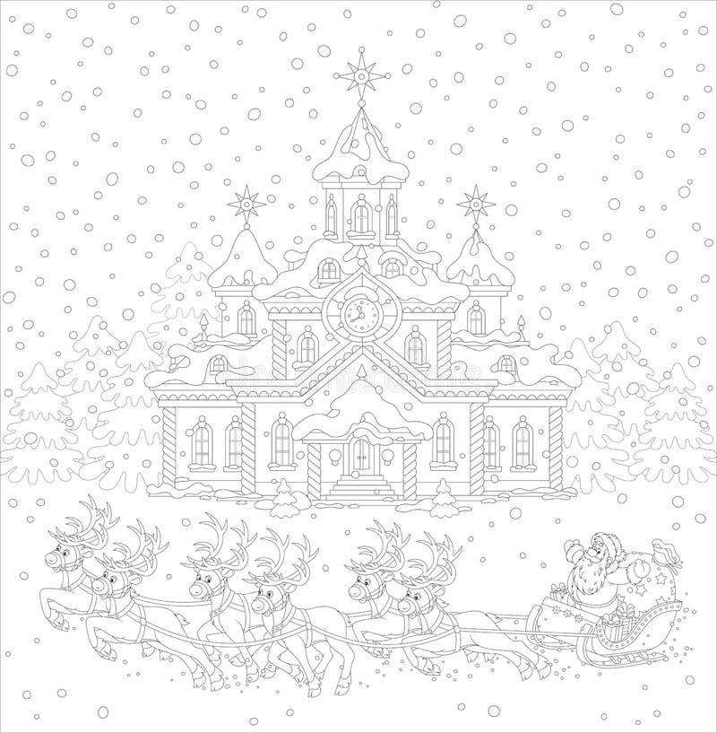 Trineo de la Navidad de Papá Noel libre illustration
