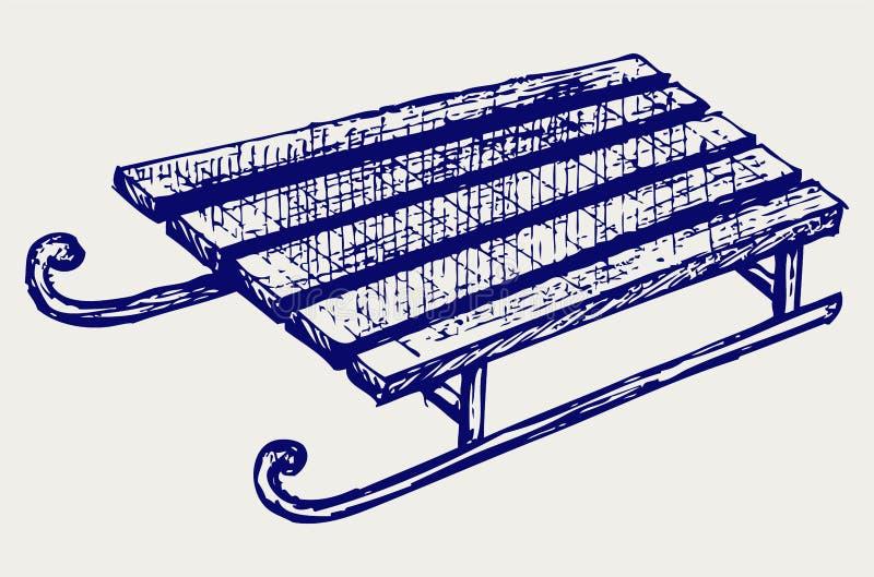 Trineo de madera libre illustration