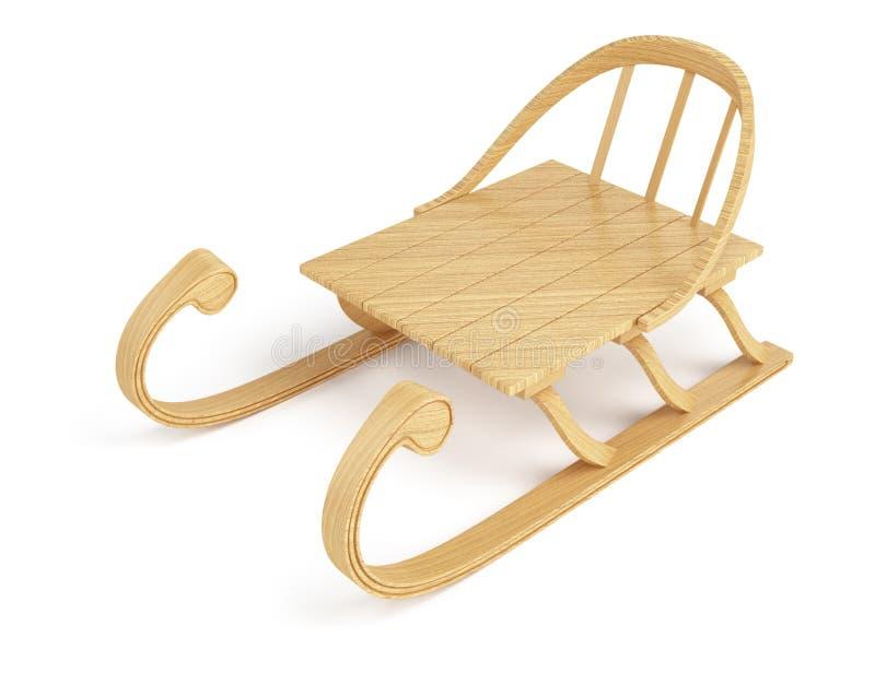Trineo de madera ilustración del vector
