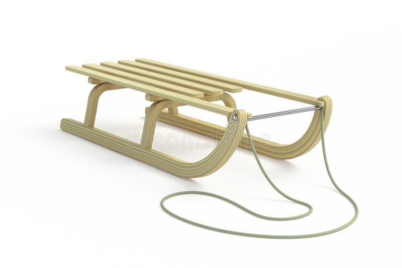 Trineo de madera clásico stock de ilustración