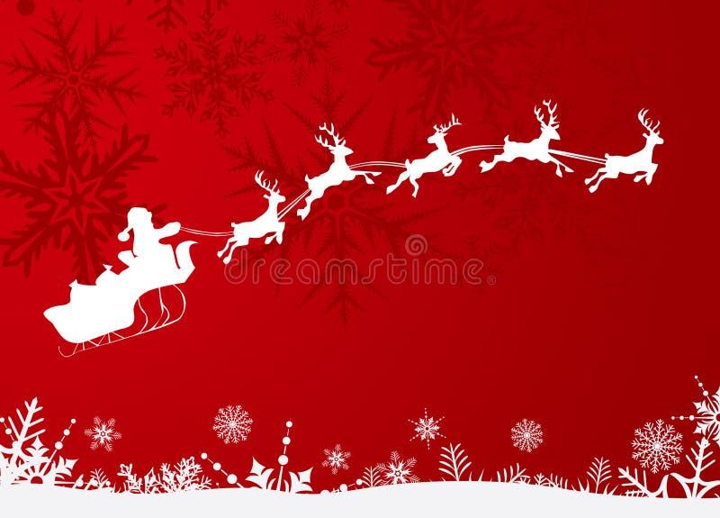 Trineo de Papá Noel ilustración del vector
