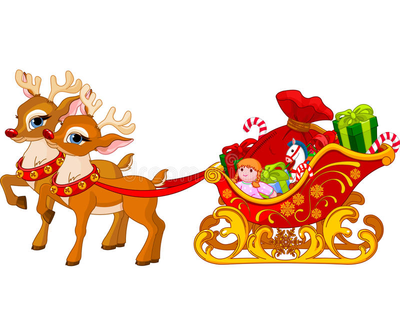 Trineo de Papá Noel libre illustration