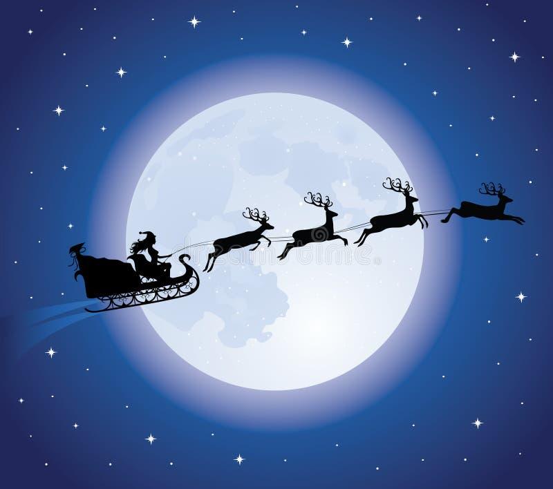 Trineo de Santa. stock de ilustración
