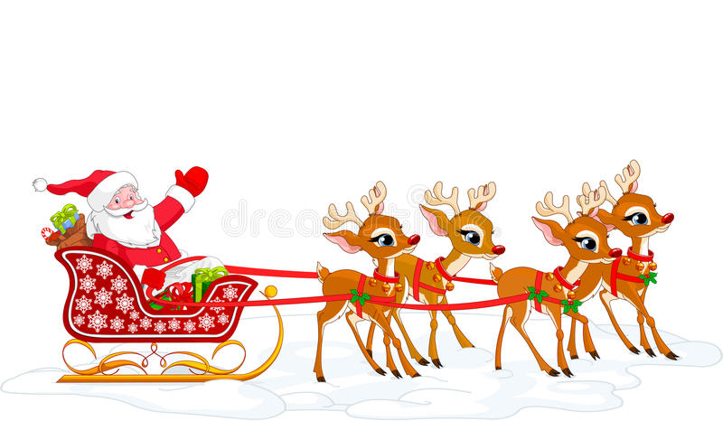 Trineo de Santa stock de ilustración