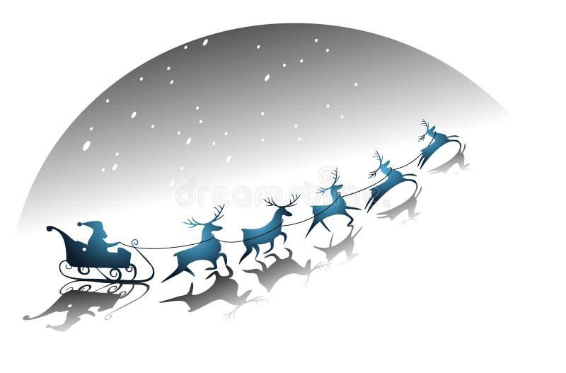 Trineo de Santa Claus ilustración del vector