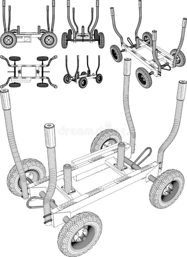 Trineo del ejercicio de la aptitud del esfuerzo de torsión del gimnasio Rueda dentada libre illustration