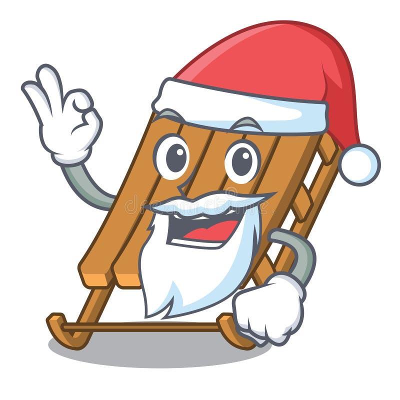 Trineo del hielo de Papá Noel aislado con el carácter ilustración del vector