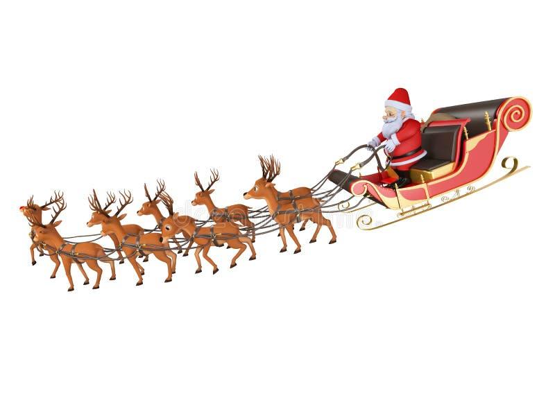 Trineo del ` s de Santa stock de ilustración