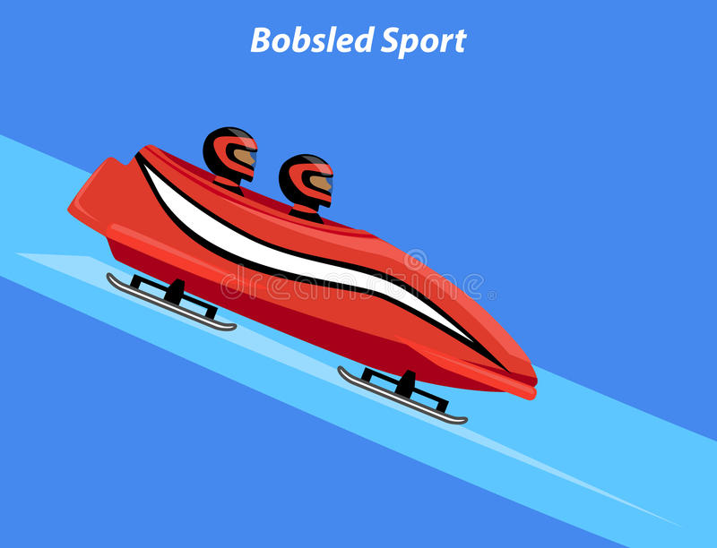 Trineo del trineo del deporte de invierno stock de ilustración