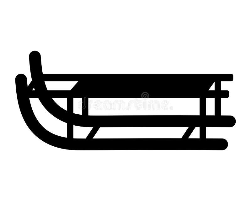 Trineo en el fondo blanco stock de ilustración