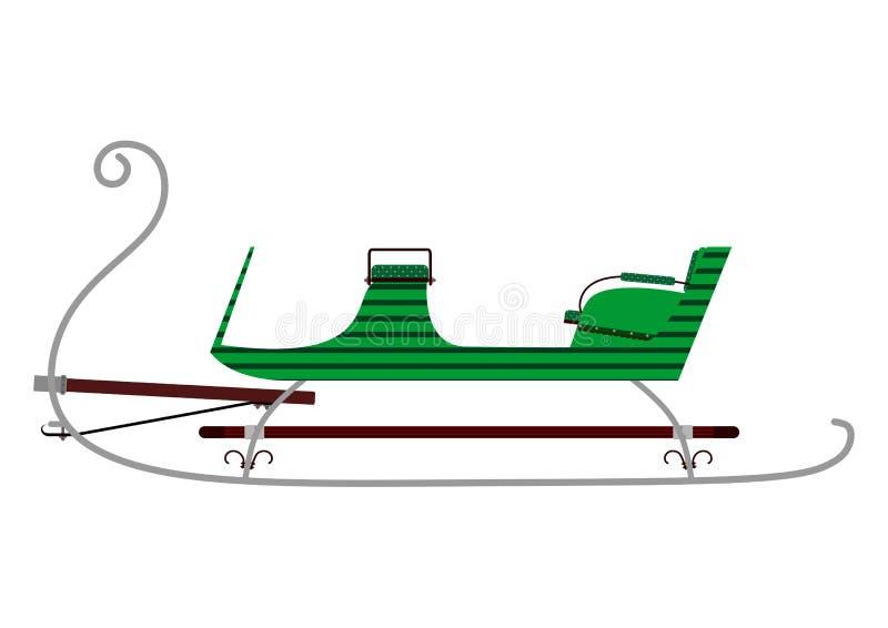 Trineo retro ilustración del vector