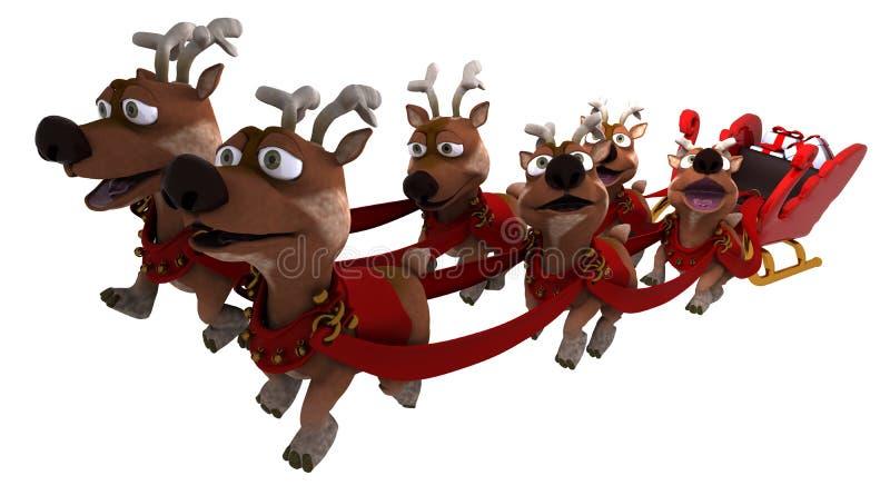 Trineo y reno de Santas libre illustration