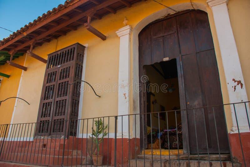 Trinidad är en town i Kuba är årig stad 500 med spansk kolonial arkitektur platsen för UNESCO-världsarvet arkivfoton