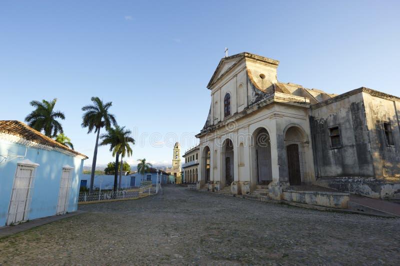 Trinidad Cuba Colonial Architecture Plaza-Bürgermeister lizenzfreie stockbilder