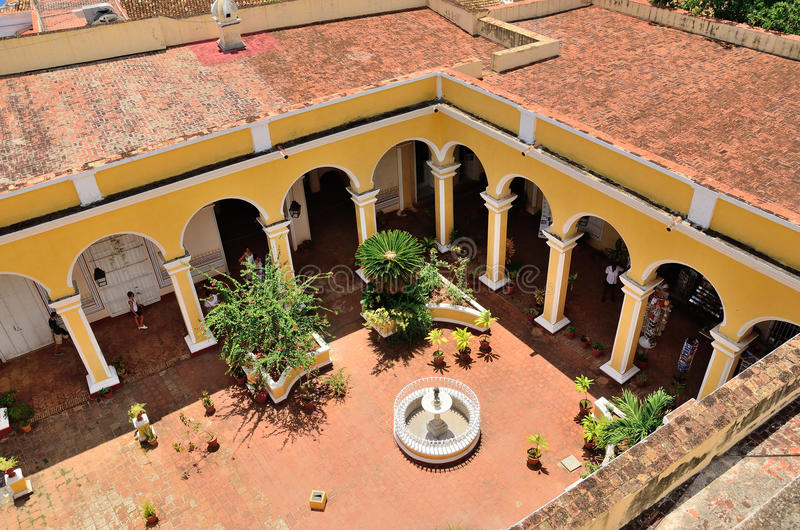 Trinidad Cuba - Patio eines Hauses lizenzfreie stockfotografie