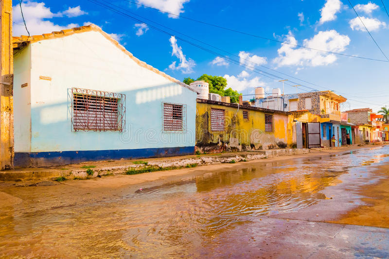 TRINIDAD, CUBA - SEPTEMBER 8, 2015: Flooded stock images