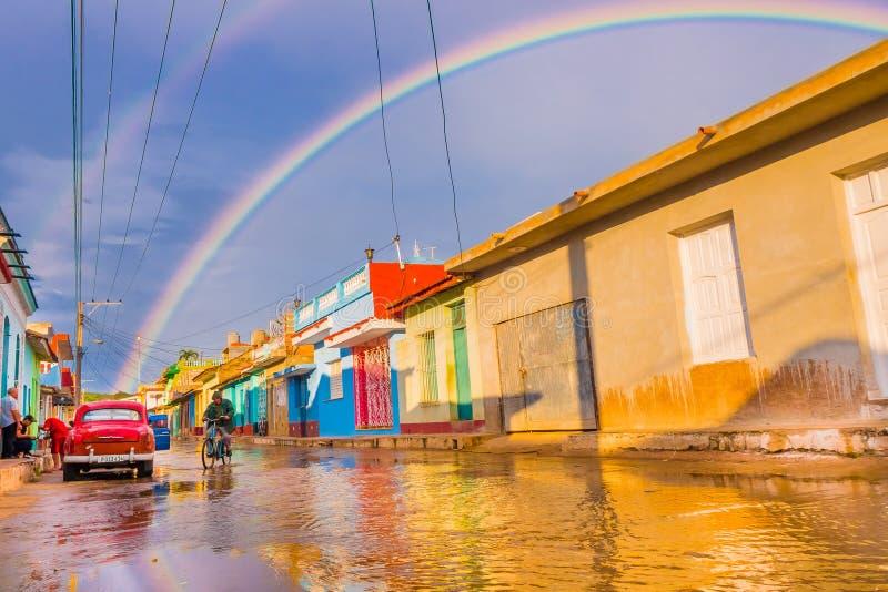TRINIDAD, CUBA - SEPTEMBER 8, 2015: Flooded stock photo