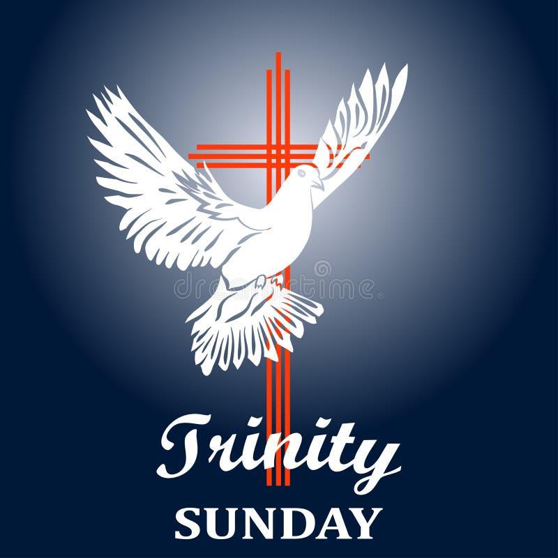 Trinidad domingo Concepto de la iglesia cristiana libre illustration