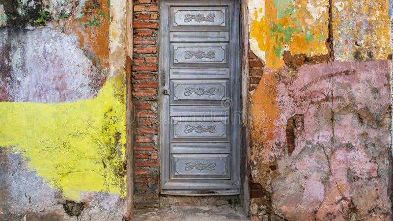 Trinidad, facciata 1 di Cuba fotografia stock