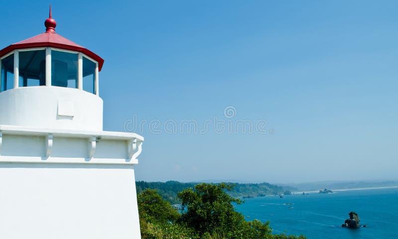 Trinidad Head Lighthouse royaltyfria bilder