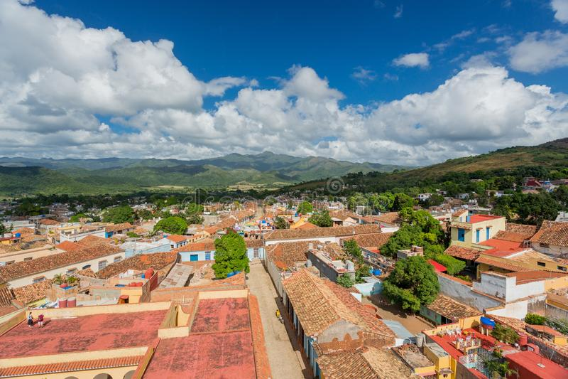 Trinidad, Kuba Ansicht der Stadt stockbild
