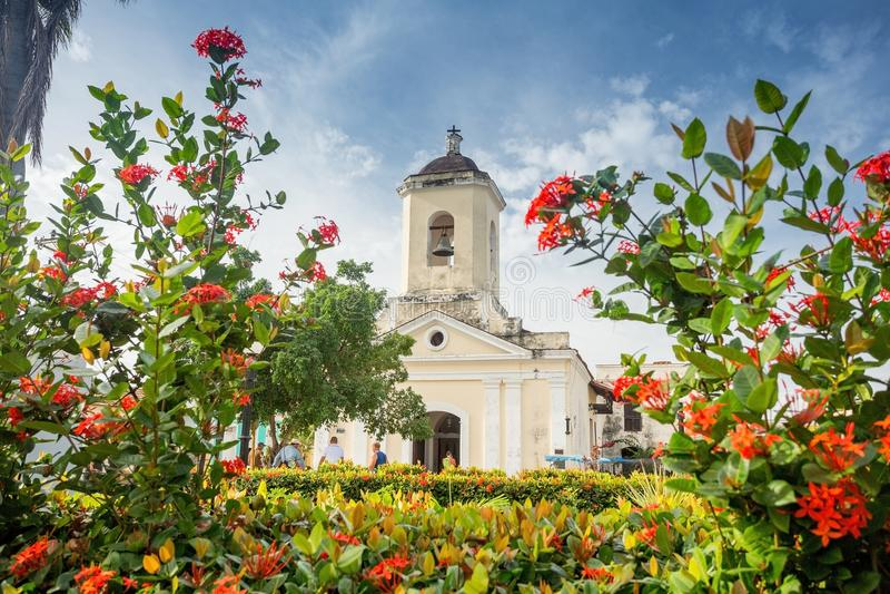 Trinidad, Kuba San Francisco de Paula Church stockbilder