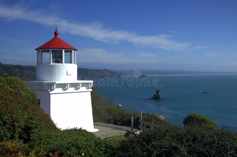 Trinidad Lighthouse och hamn fotografering för bildbyråer