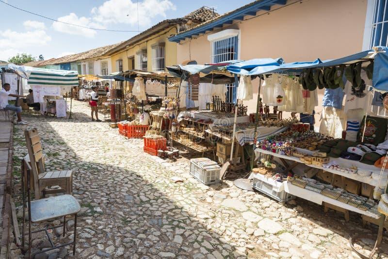 Trinidad marknad arkivbilder